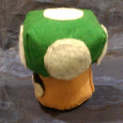 Super Mario inspired 1-UP Mushroom (left)