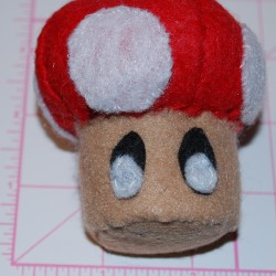 Super Mario Inspired Power Up Mushroom (Front)