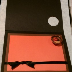 Halloween Tree Card w/ Bottle Cap Magnet (Inside)