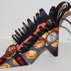 Halloween Witches Shoe (left)