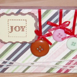 Joy Ornament Card - Front