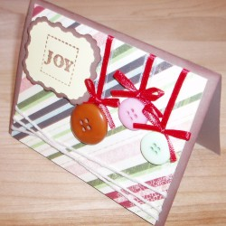 Joy Ornament Card - Side