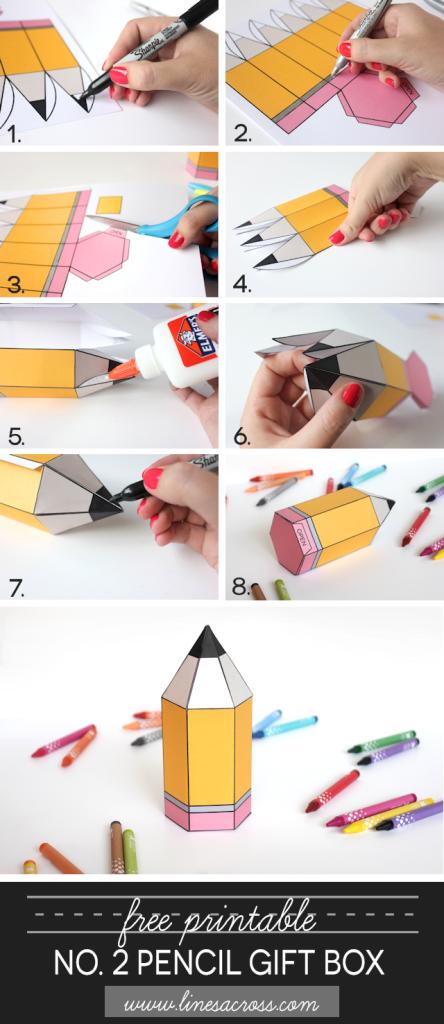 Как сделать объемный карандаш из картона своими руками 85