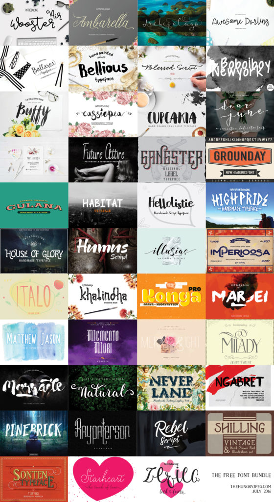 The Free Font Bundle