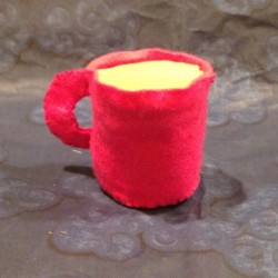 Pink Cup of Coffee Plushie (Side)