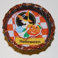 Vintage Halloween Witch w/ Pumpkin