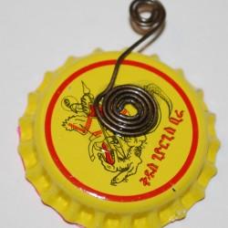 """Hug A Bug"" Shadow Box Bottle Cap Necklace (Back)"