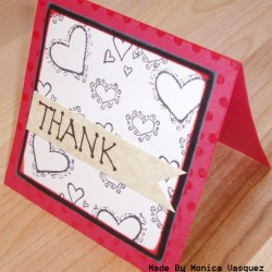 Thank You - Hearts (left)